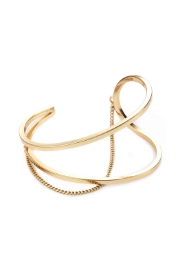 Jenny Bird - River Cuff - High Polish Gold