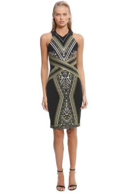 Karen Millen - Embroidered Midi Dress - Front