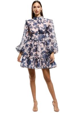 Keepsake-the-Label-Halo-Dress- Mink-Botanic-Front