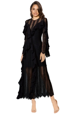 Keepsake - Better Days Lace Gown - Black - Front