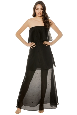 Keepsake - Call Me Gown - Black - Front