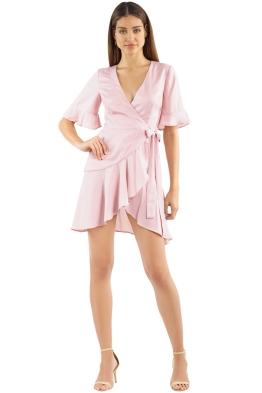 Keepsake - Oceans Wrap Dress - Blush - Front