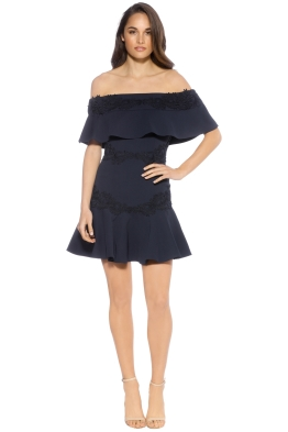 Keepsake - Sweet Dreams Mini Dress Navy - Front