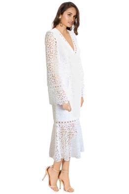 Keepsake - Uplifted LS Midi Dress - Ivory - Side