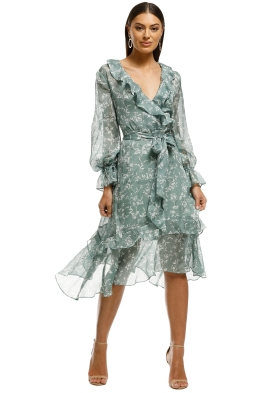 Keepsake the Label - Cheshire Dress - Sage Floral - Front