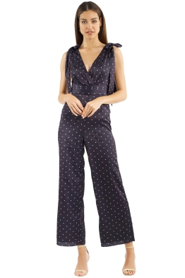 Keepsake the Label - Hold Back Jumpsuit - Black - Front