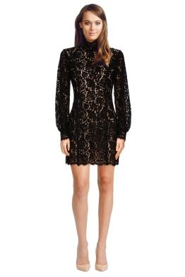 Keepsake the Label - Let It Happen Long Sleeve Dress - Black - Front