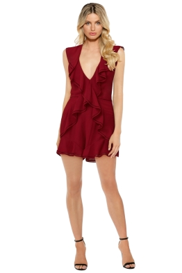 Keepsake The Label - Lovers Holiday Playsuit - Plum - Wine Red - Front