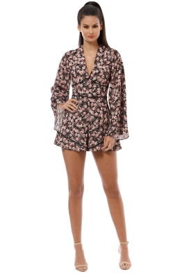 Keepsake the Label - One Love Playsuit - Black Floral - Front