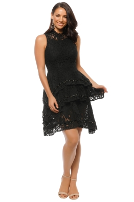 Keepsake the Label - Star Crossed Lace Dress - Black - Front