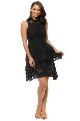 Keepsake the Label - Star Crossed Lace Dress - Black - Front