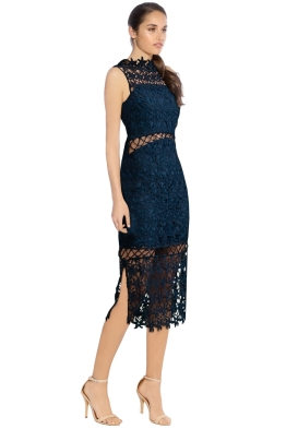 Keepsake The Label - Stay Close Lace Dress - Navy - Side