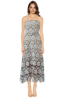 Keepsake the Label - True Love Lace Dress - Black and White - Front