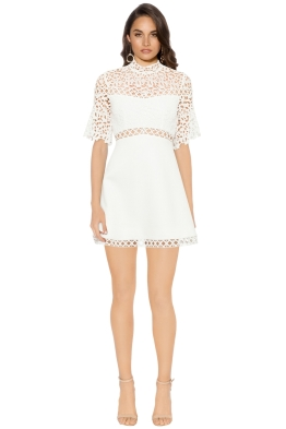 Keepsake The Label - Uplifted Mini Dress - Ivory - Front