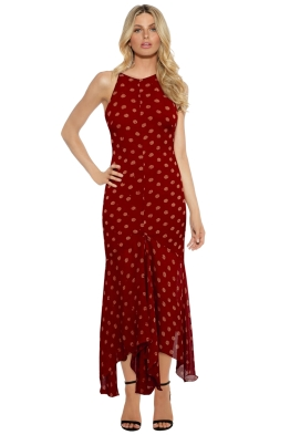 KITX - Silk Crinkle Dress - Red - Front
