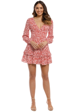 Kookai - Wilshire Mini Dress - Red White - Front