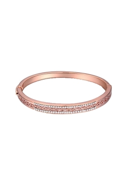Krystal Couture - True Destiny Krystal Bangle - Rose Gold - Front