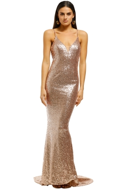 L'amour-Sequin-Plunge-Rose-Gold-Front
