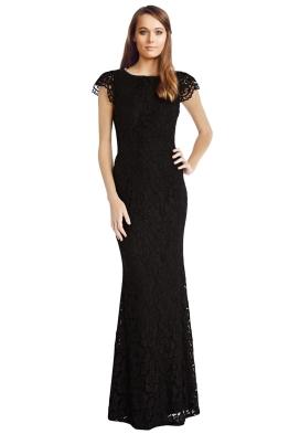 Langhem - Elle Evening Dress - Black - Front