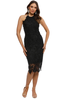 Langhem - Logan Cocktail Dress - Black - Front