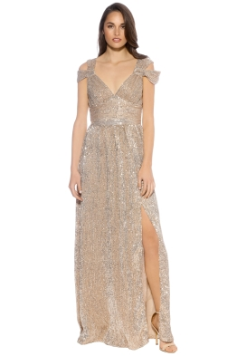 Langhem - Lola Evening Gown - Gold - Front