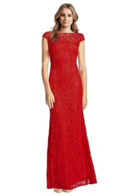 Langhem - Red Elisa Evening Gown - Front