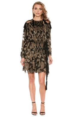 Lanvin - Embroidered Silk Mini Dress - Front