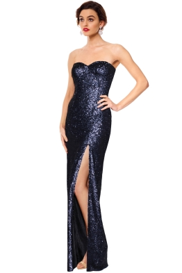 Les Demoiselle - Lovato Sequin Gown - Navy - Side