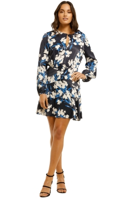 Lover-Babylon-Mini-Dress-Navy-Floral-Front