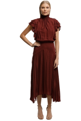 Lover-Juliette-Midi-Dress-Burgundy-Front