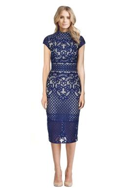Lover - Libra Dress - Blue Lace - Front