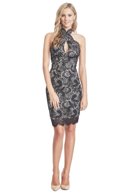 Lover - Mia Twist Dress - Front - Black