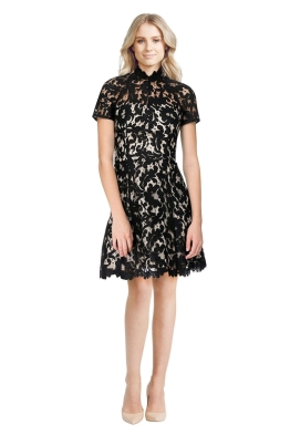 Lover - Mini Warrior Lace Dress - Black