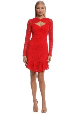 Lover - Petal Flip Dress - Red - Front