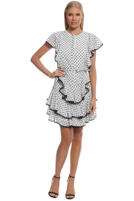 Lover - Polka Mini Dress - White Polka - Front