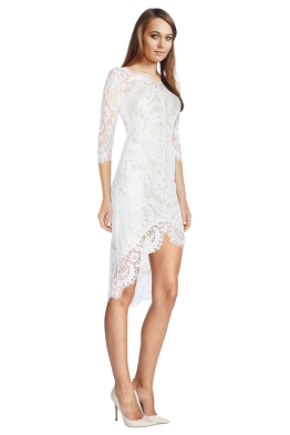 Lover - White Horizon Dress - White - Side