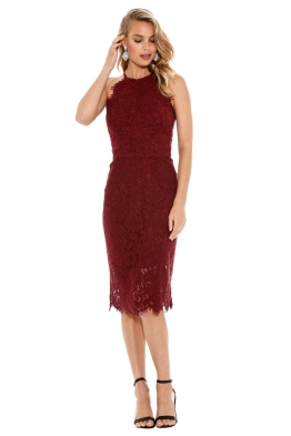 Lover - Ruby Oasis Halter Dress - Front