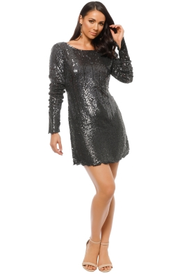 Madame X - Gabrielle Dress - Gunmetal - Front