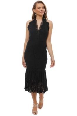 Maison Vivienne - Bitter Sweet Halter Midi Dress - Black - Front