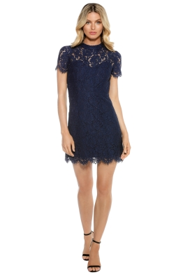 Maison Vivienne - Bitter Sweet High Neck Mini Dress - Navy - Front