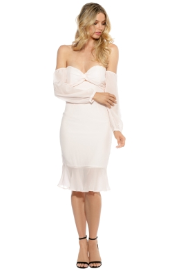 Maison Vivienne - Waltz for a Night Midi Dress - Blush - Front