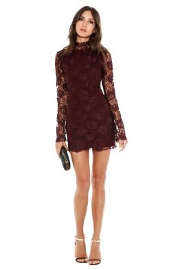 Manning Cartell - Rambling Rose Mini Dress - Bordeaux - Front