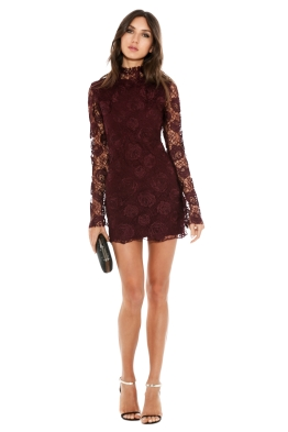 Manning Cartell - Rambling Rose Mini Dress - Bordeaux - Front