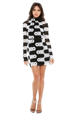 Manning Cartell - Split Personality Dress - Back White - Front