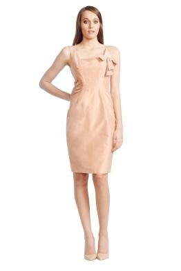 Matthew Eager - Short Silk Dress - Peach - Front