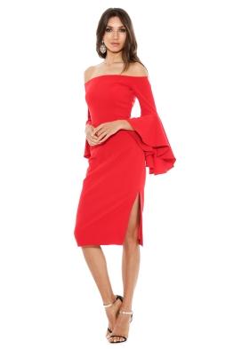 Milly - Cady Selena Slit Dress - Tomato - Front