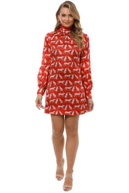 Milly - Sherie Dress - Ruby Red - Front