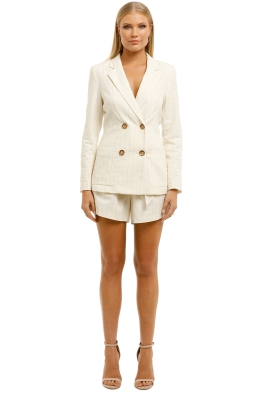 Ministry-of-Style-Cassia-Blazer-and-Shorts-Set- Ivory-Front