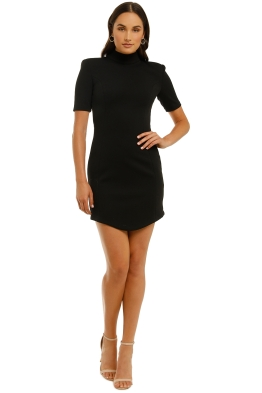 Misha-Kyra-Dress-Black-Front