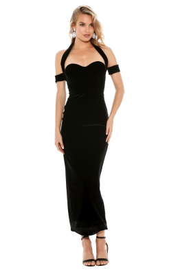 Misha Collection - Angelina Velvet Dress - Front